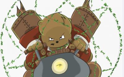 Danger Bear's Time Machine: The Sticker